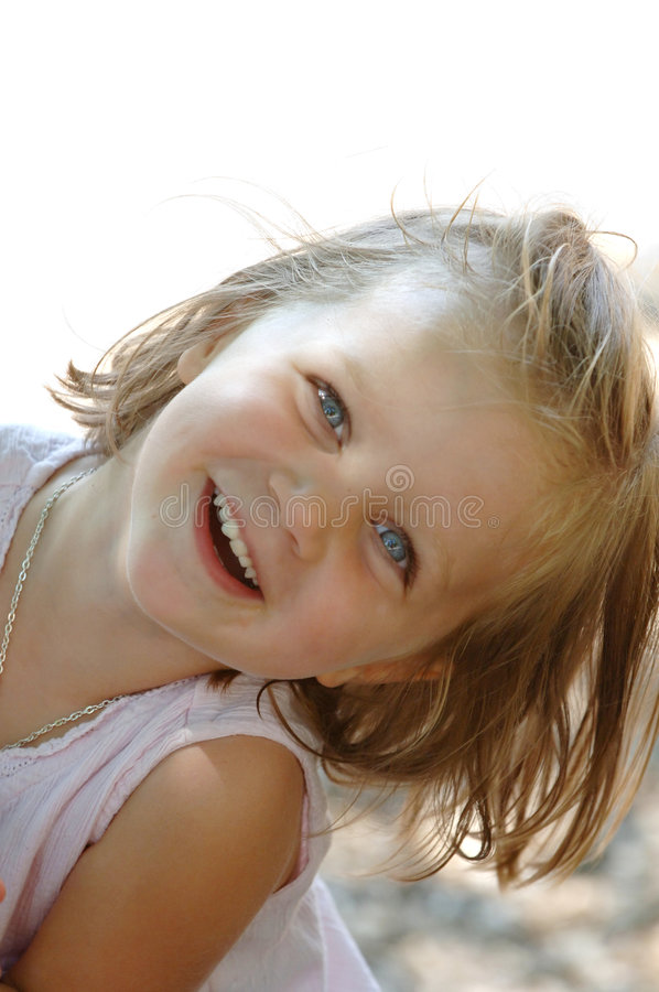 Happy little girl royalty free stock images