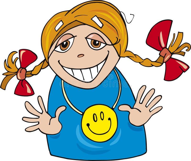 Download Happy little girl stock vector. Illustration of humor - 7181324