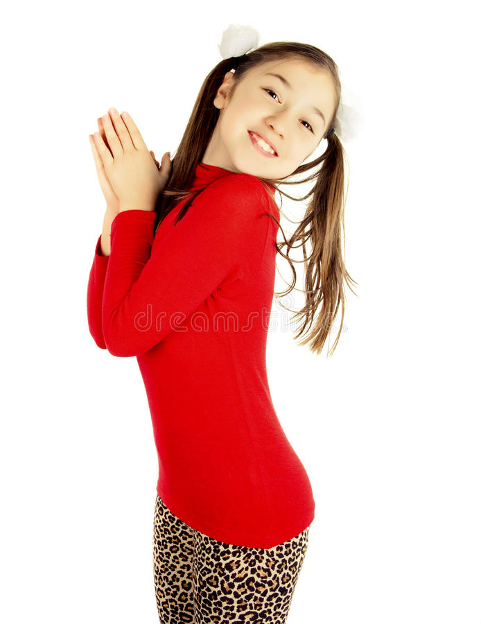 Download Happy Little Girl Play And Have Fun Stock Image - Image: 23838369