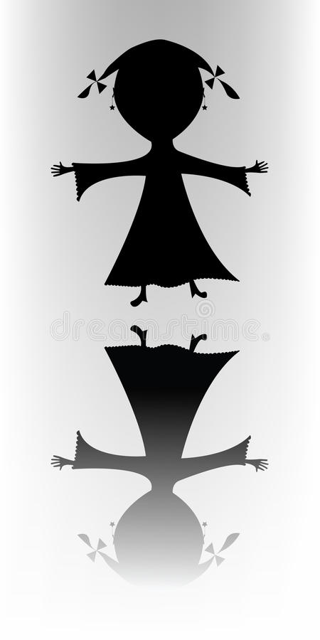 Download Happy Little Girl (silhouette) Stock Photography - Image: 11238982