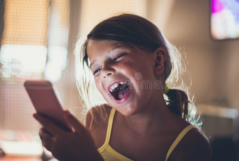 Happy little girl. stock image