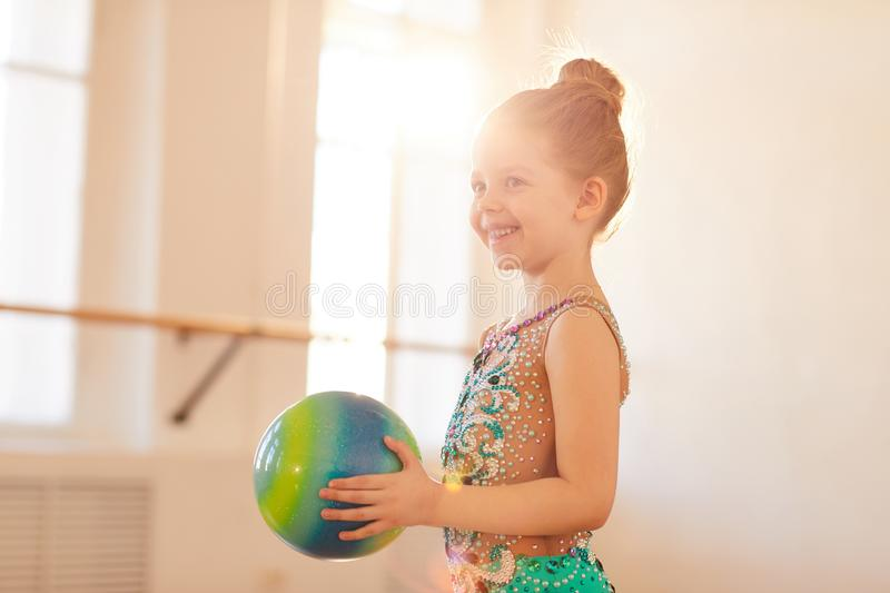 Happy Little Gymnast royalty free stock photography