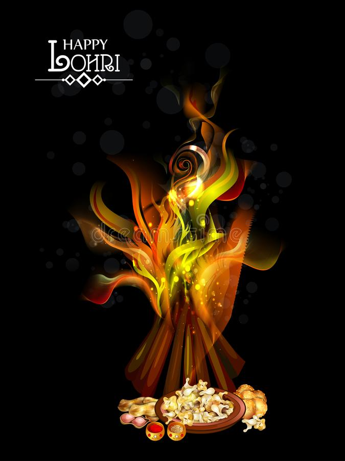 Happy Lohri festival of Punjab India background vector illustration