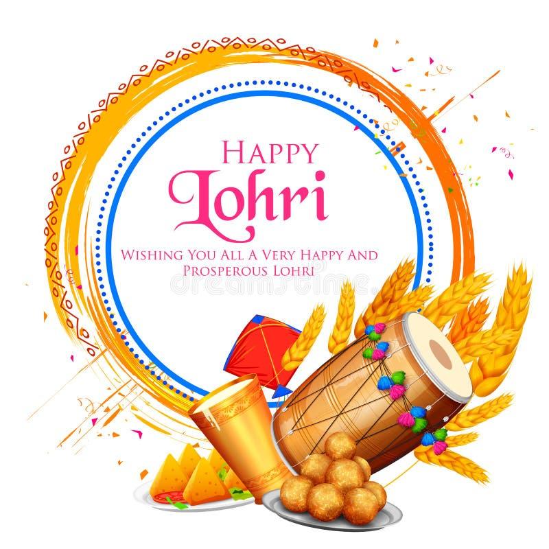 Free Happy Lohri Holiday Background For Punjabi Festival Stock Photos - 104300553