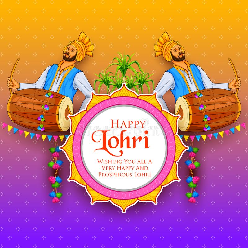 Free Happy Lohri Holiday Background For Punjabi Festival Royalty Free Stock Photo - 104300585