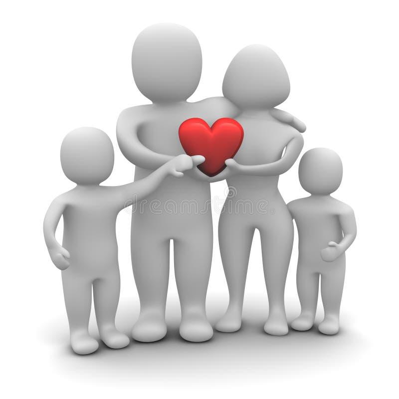 Happy loving family stock illustration