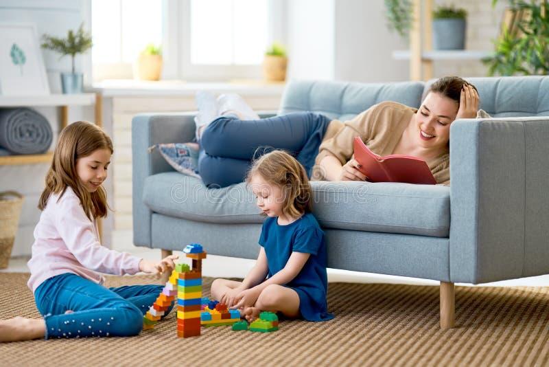 Happy loving family stock photography
