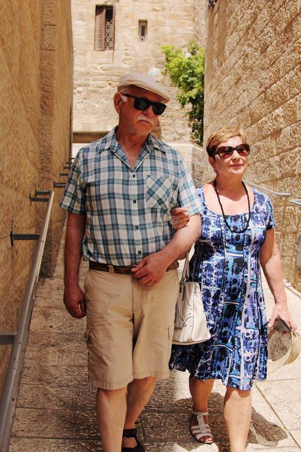 Free Happy Loving Senior Couple Enjoying Vacation Stock Photo - 61143350