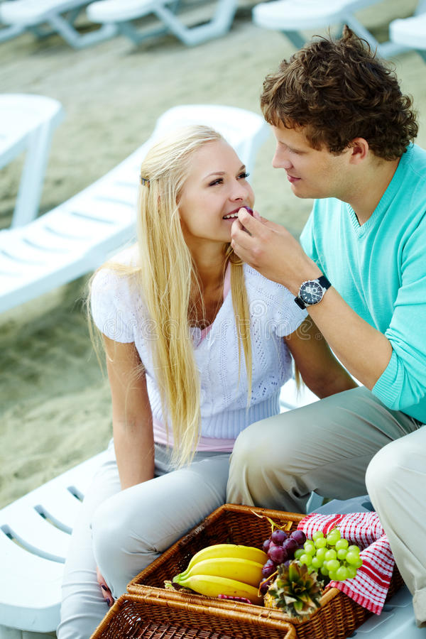 Download Happy lunch stock photo. Image of grape, picnic, handsome - 23868662