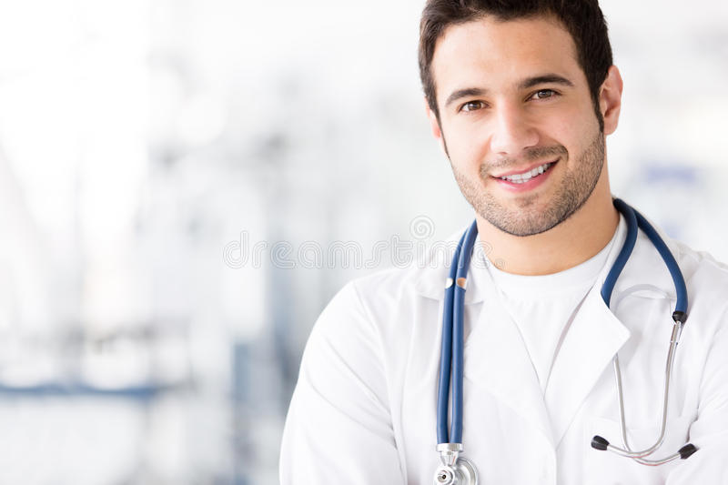 Download Happy male doctor stock photo. Image of practitioner - 25849058