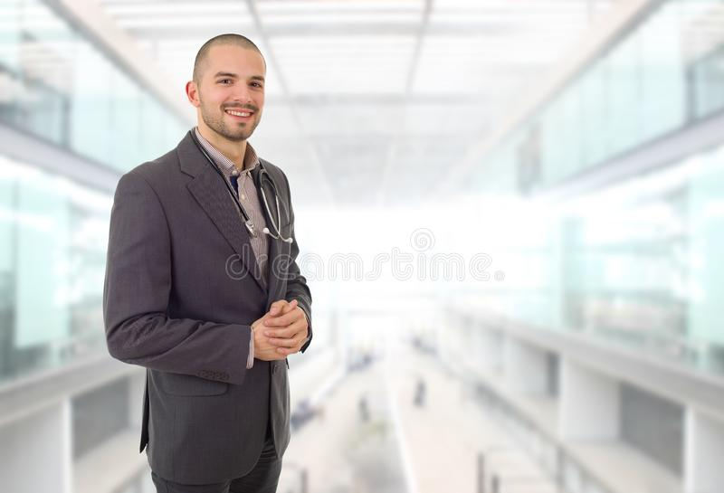 Doctor. Happy male doctor at the hospital stock photos