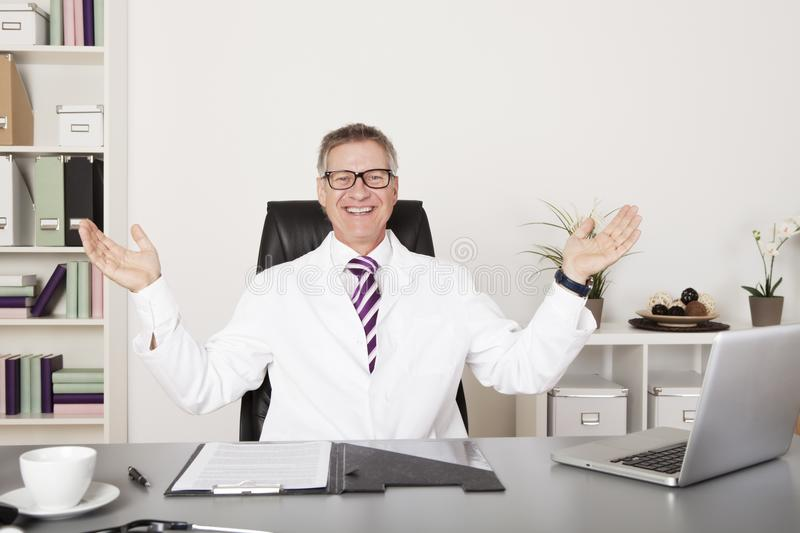 Happy Male Medical Doctor. Looking at Camera stock photos