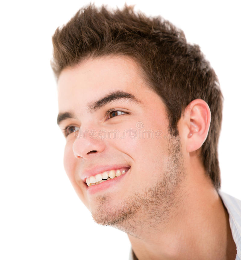 Download Happy male portrait stock image. Image of white, content - 25140829