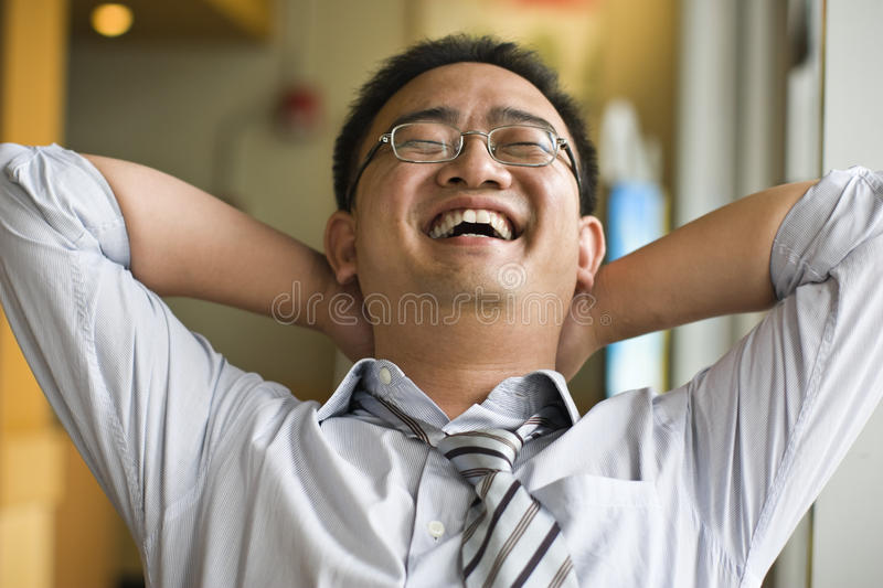 Happy man stock images