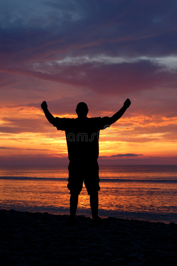 Download Happy man #7 stock image. Image of feeling, evening, beach - 2740925