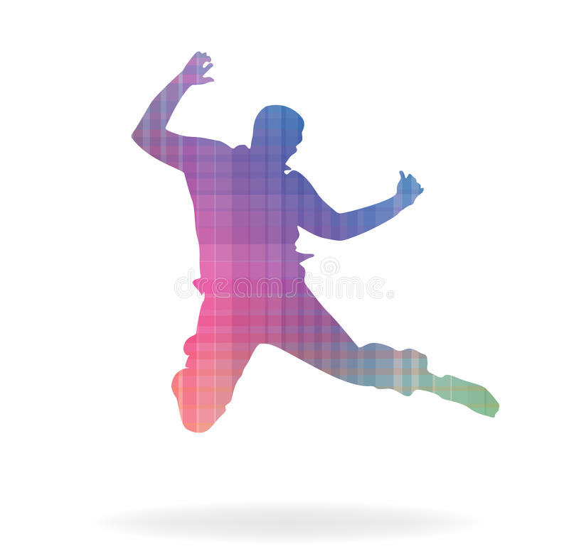 Happy man. Vector illustration of happy man jump royalty free illustration