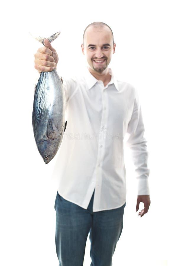 Happy man with fish