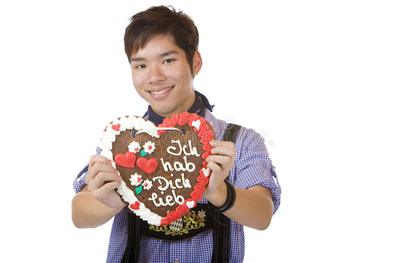 Download Happy Man Holding Oktoberfest Heart Stock Photo - Image: 12614672