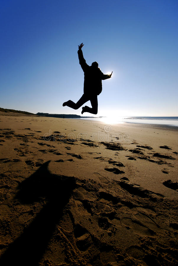 Download Happy man jumping stock photo. Image of happiness, backlight - 15255772