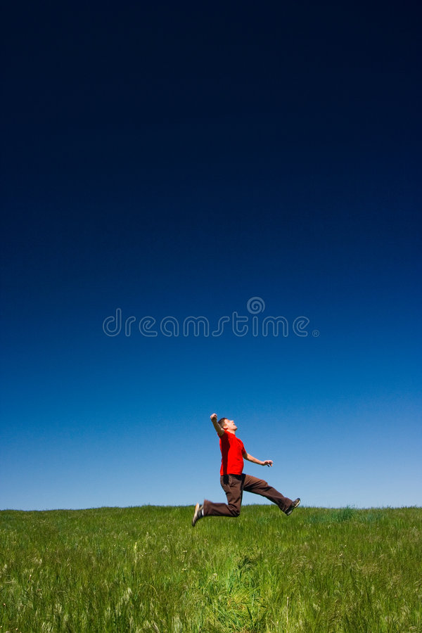 Download Happy man jumping stock image. Image of fresh, male, healthy - 2378685