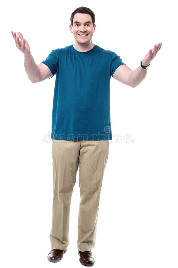 Happy man with open arms royalty free stock photos
