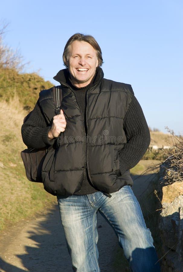 happy man outdoor smiling στοκ εικόνες