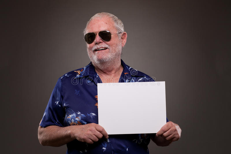 Download Happy man with a placard stock image. Image of horizontal - 30326897