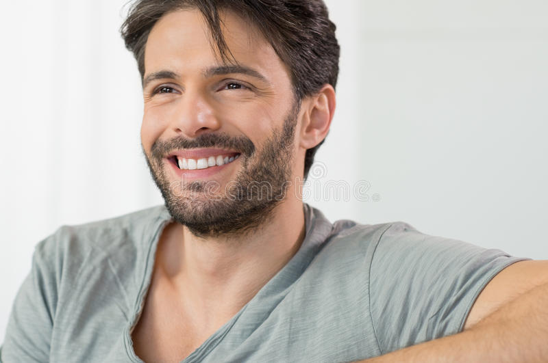 Happy man smiling stock images