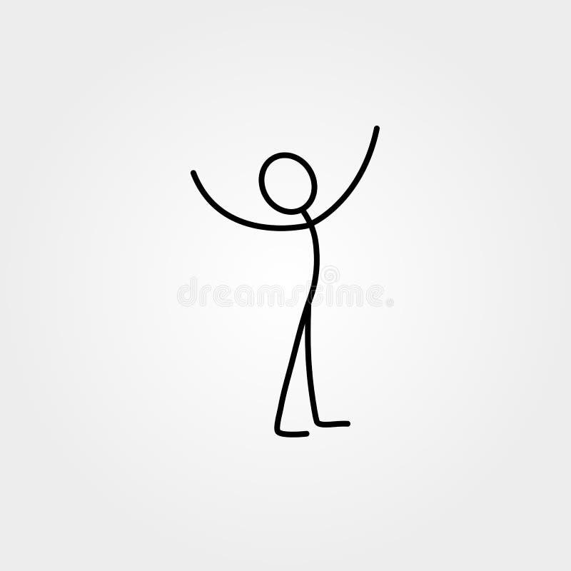 Happy man stick figure royalty free illustration