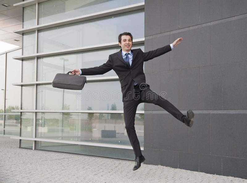Download Happy manager stock image. Image of jumping, excitement - 15253619