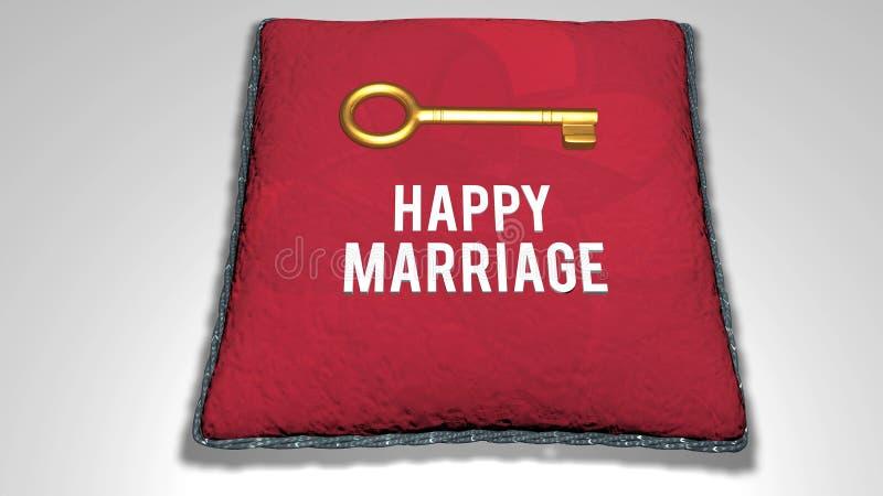 Happy Marriage concept animation vector illustration