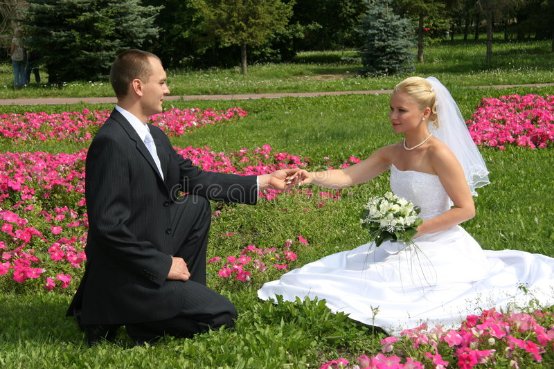 Happy married royalty free stock photography