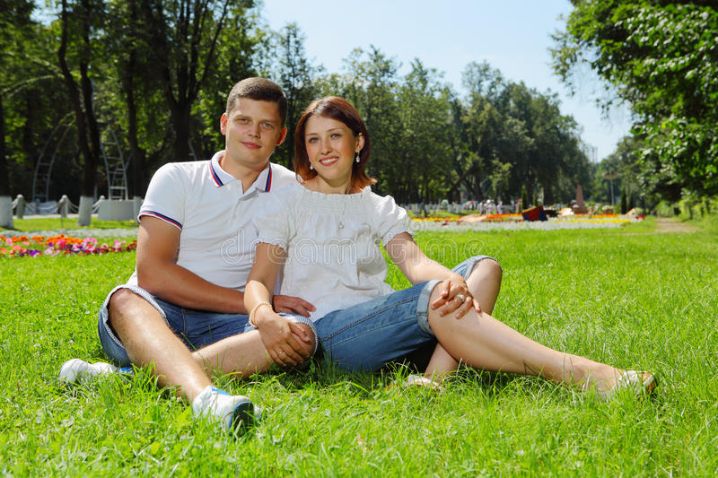 Download Happy married couple stock photo. Image of park, beautiful - 25628516