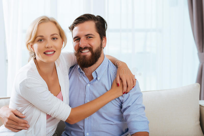 Happy married couple royalty free stock photography