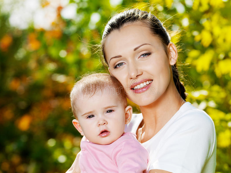 Download Happy Mather With Baby Outdoor Royalty Free Stock Image - Image: 16622226