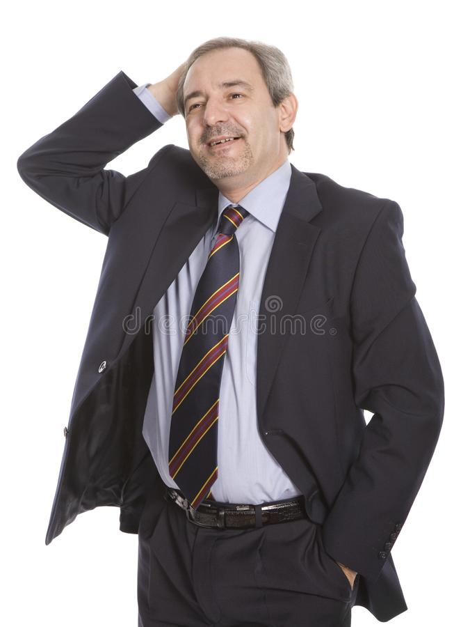 Happy mature businessman stock photography