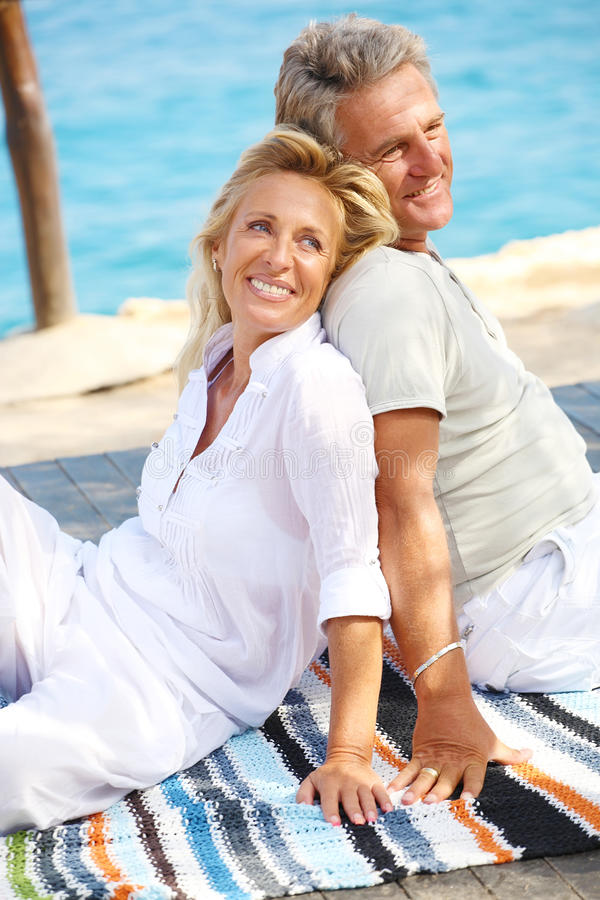 Happy mature couple stock photos