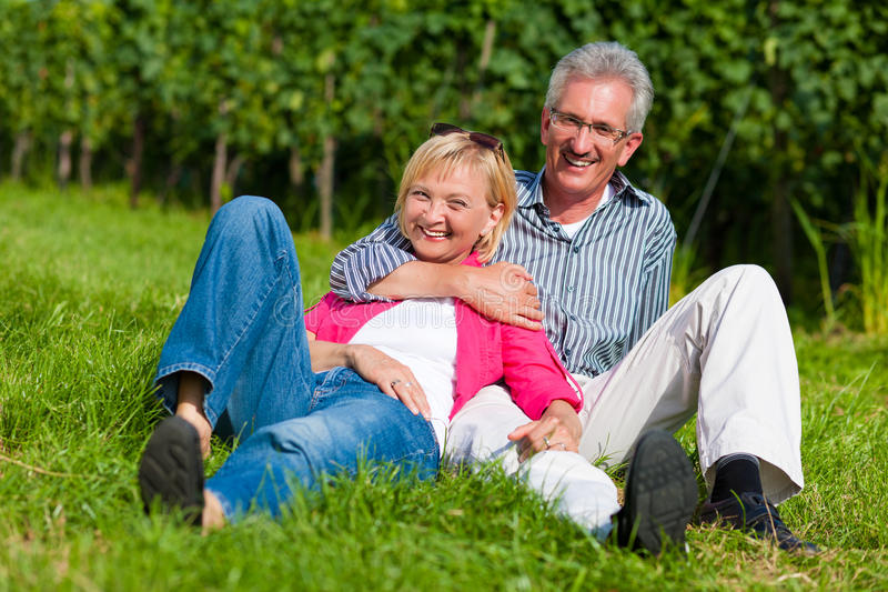 Download Happy Mature Couple Outdoors Stock Image - Image: 19244091