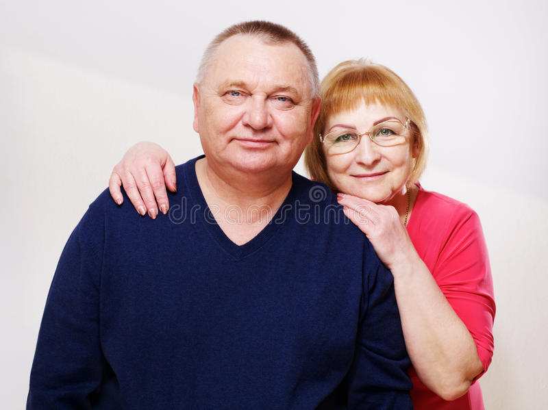 Happy mature couple portrait royalty free stock photography