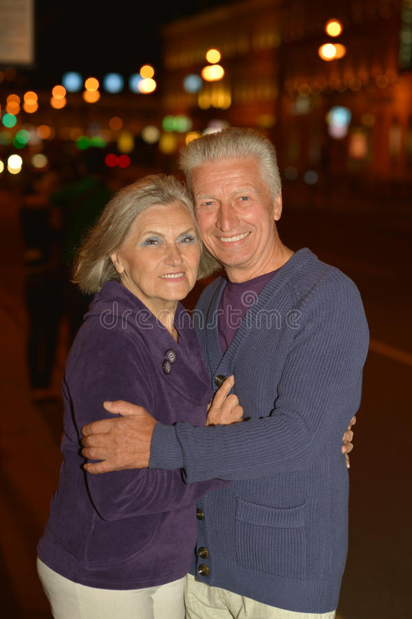 Happy mature couple. In romantic photo session royalty free stock photography