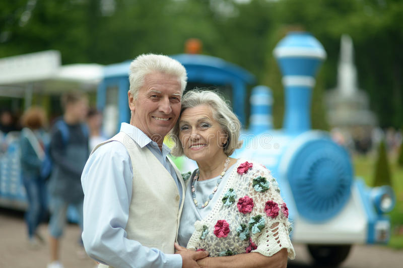 Happy mature couple. In romantic photo session royalty free stock images