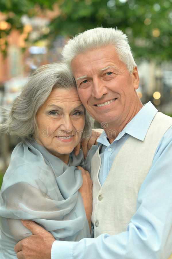 Happy mature couple. In romantic photo session royalty free stock photo
