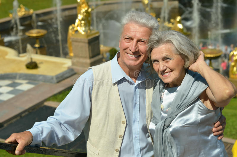 Happy mature couple. In romantic photo session royalty free stock photos