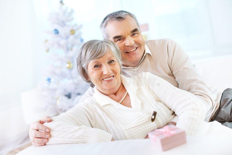 Happy mature couple stock photography