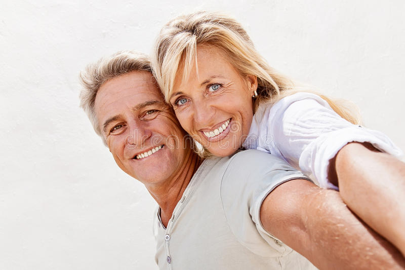 Happy mature couple royalty free stock photo