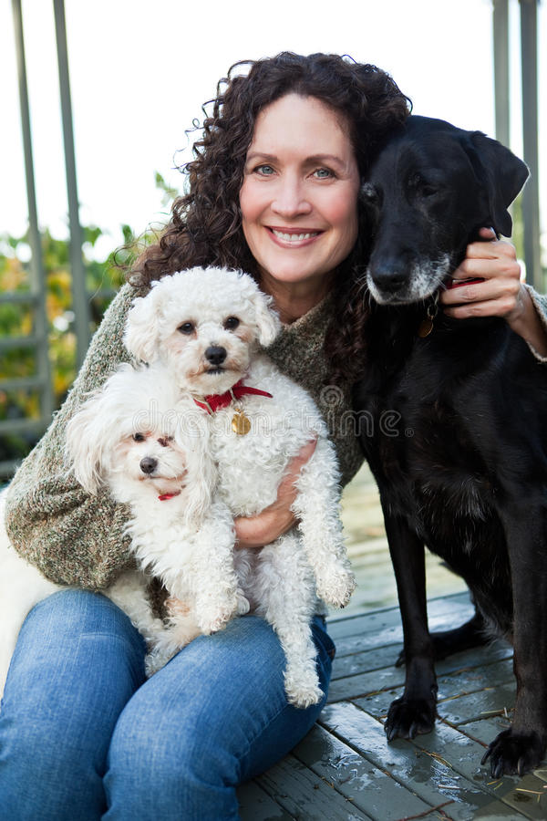Download Happy mature woman stock photo. Image of canine, mother - 11808172