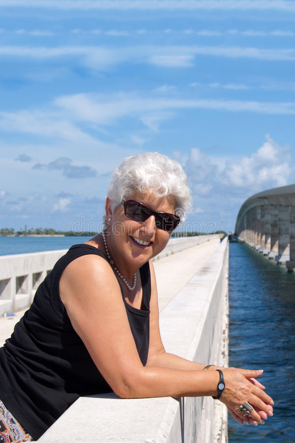 Happy mature woman royalty free stock photos