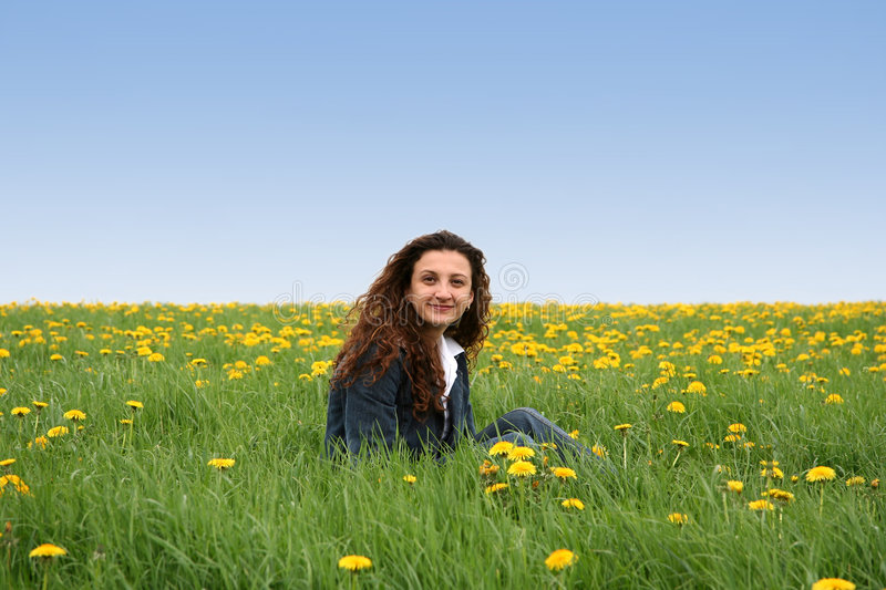 Download Happy in the meadow IV stock image. Image of countryside - 117635
