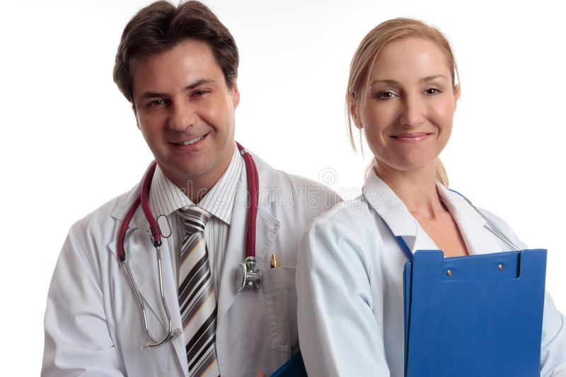 Happy medical staff royalty free stock photography