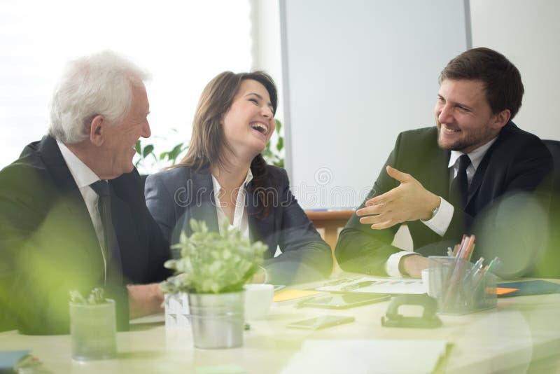 Happy meeting stock photo